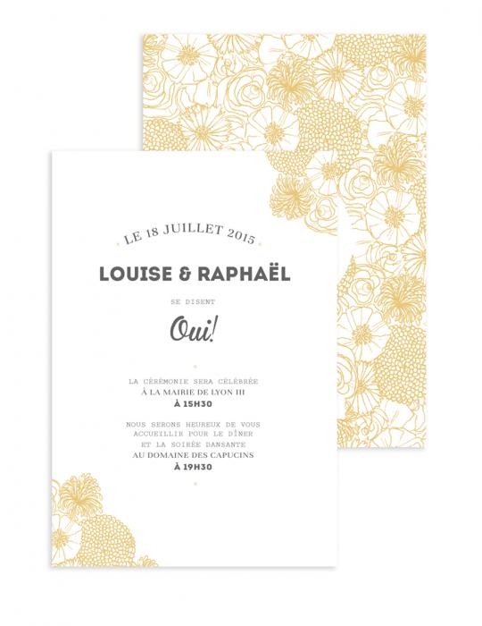 Faire Part mariage Collection La Bohème ocre - Septembre Papeterie