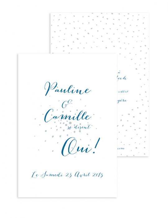 Faire part mariage Collection Firework bleu - Septembre Papeterie