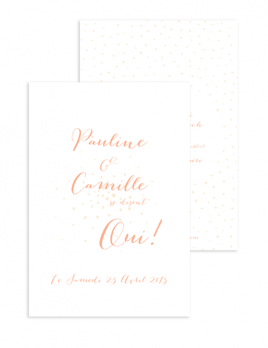 Faire part mariage Collection Firework nude - Septembre Papeterie