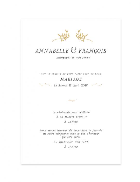 Faire part Collection Brindille Dessin champêtre Septembre Papeterie Graphiste faire part & carterie