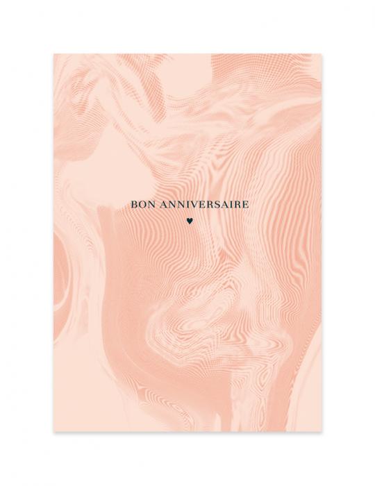 Carte anniversaire Abysse rose - Septembre Papeterie