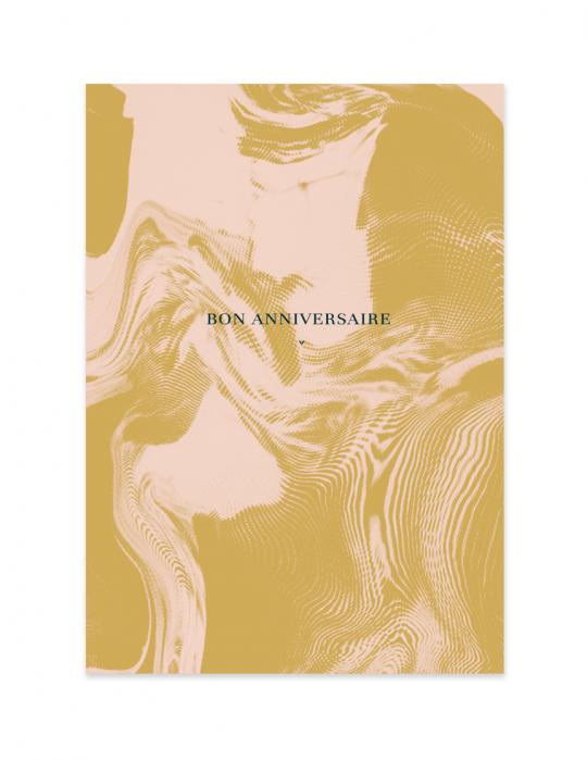 Carte anniversaire Abysse ocre - Septembre Papeterie