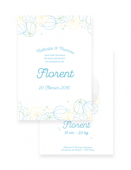 Faire-Part-Naissance-Collection-Bulle-bleu-Septembre-Papeterie