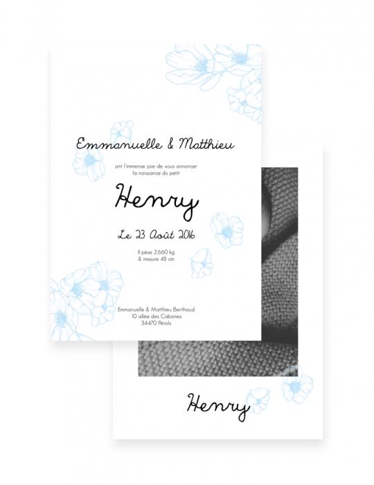 Faire-Part-Naissance-Collection-Cerise-bleu-Septembre-Papeterie