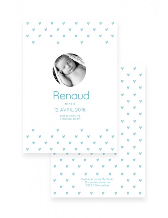 Faire-Part-Naissance-Collection-Heart-bleu-Septembre-Papeterie