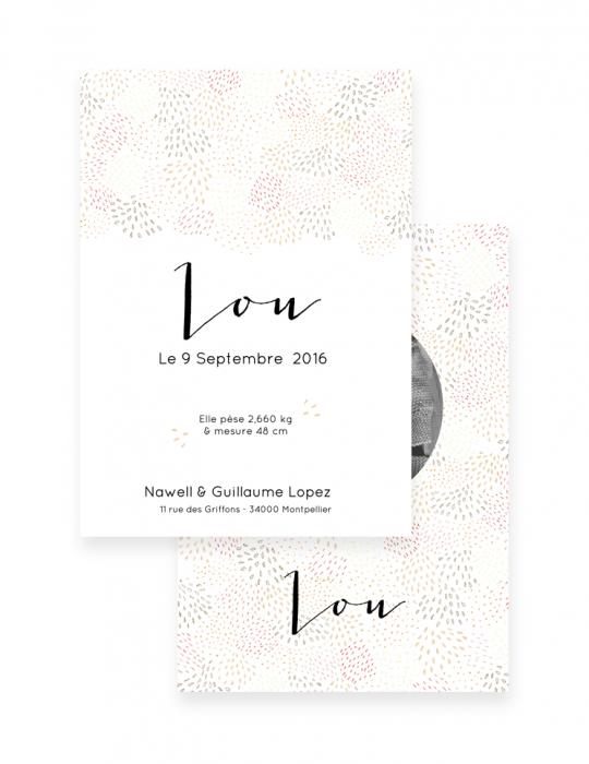 Faire-Part-Naissance-Collection-Moqaïque-beige-Septembre-Papeterie