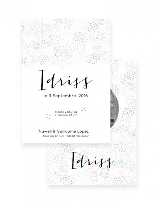 Faire-Part-Naissance-Collection-Mosaïque-bleu-Septembre-Papeterie
