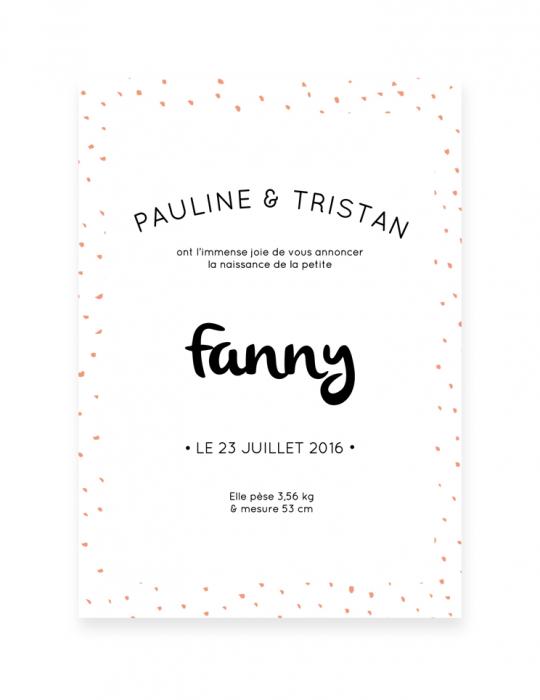 Recto-faire-Part-Naissance-Collection-Confettis-corail-Septembre-Papeterie