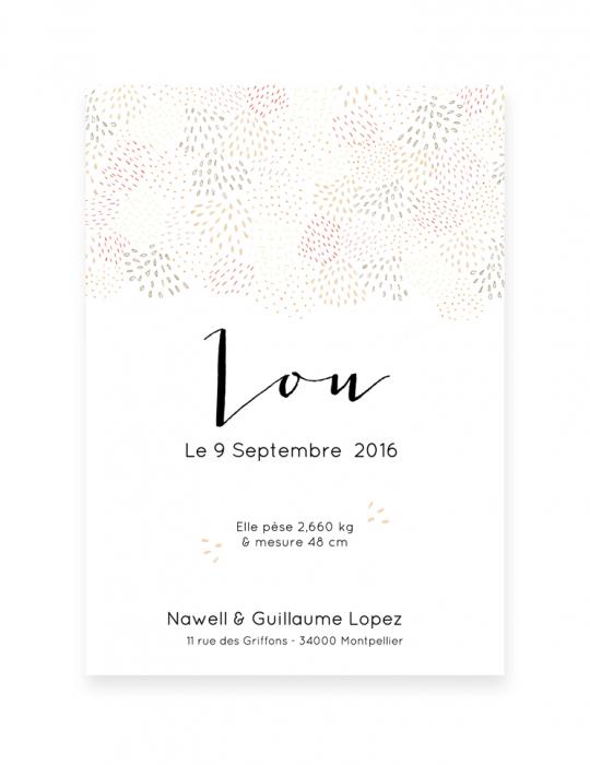 Recto-faire-Part-Naissance-Collection-Mosaïque-beige-Septembre-Papeterie