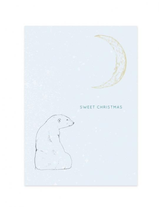 Carte-Noël-Polar-Bear-Septembre-Papeterie