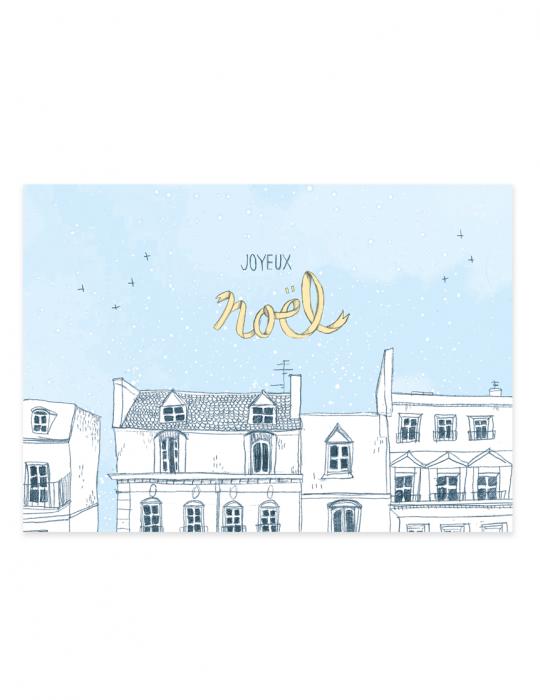 Carte-Noel-Sur-les-toits-Septembre-Papeterie