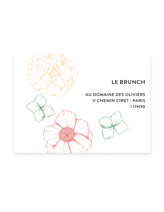 Invitation Fragrance Septembre Papeterie corail verso