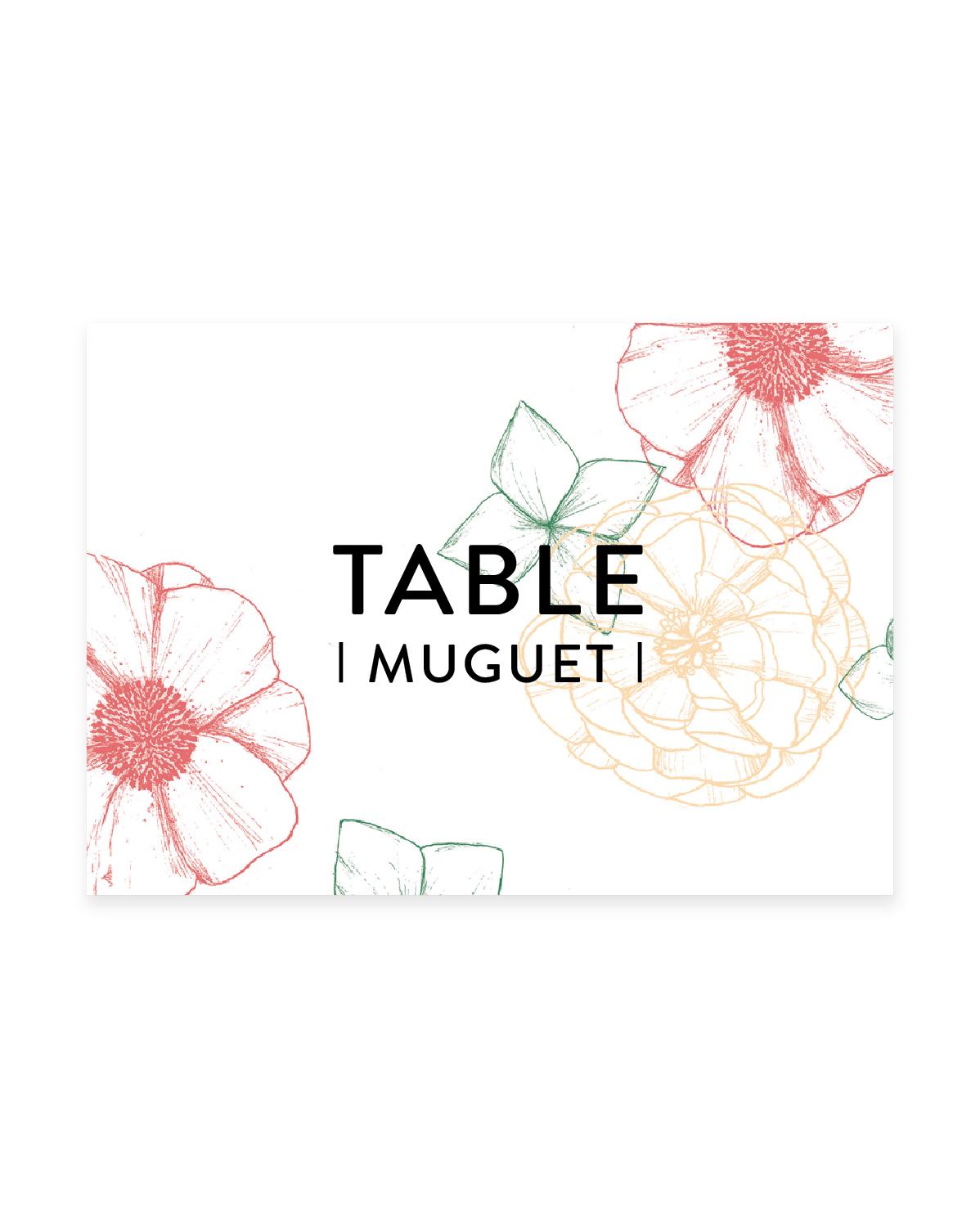 Les Noms de Table