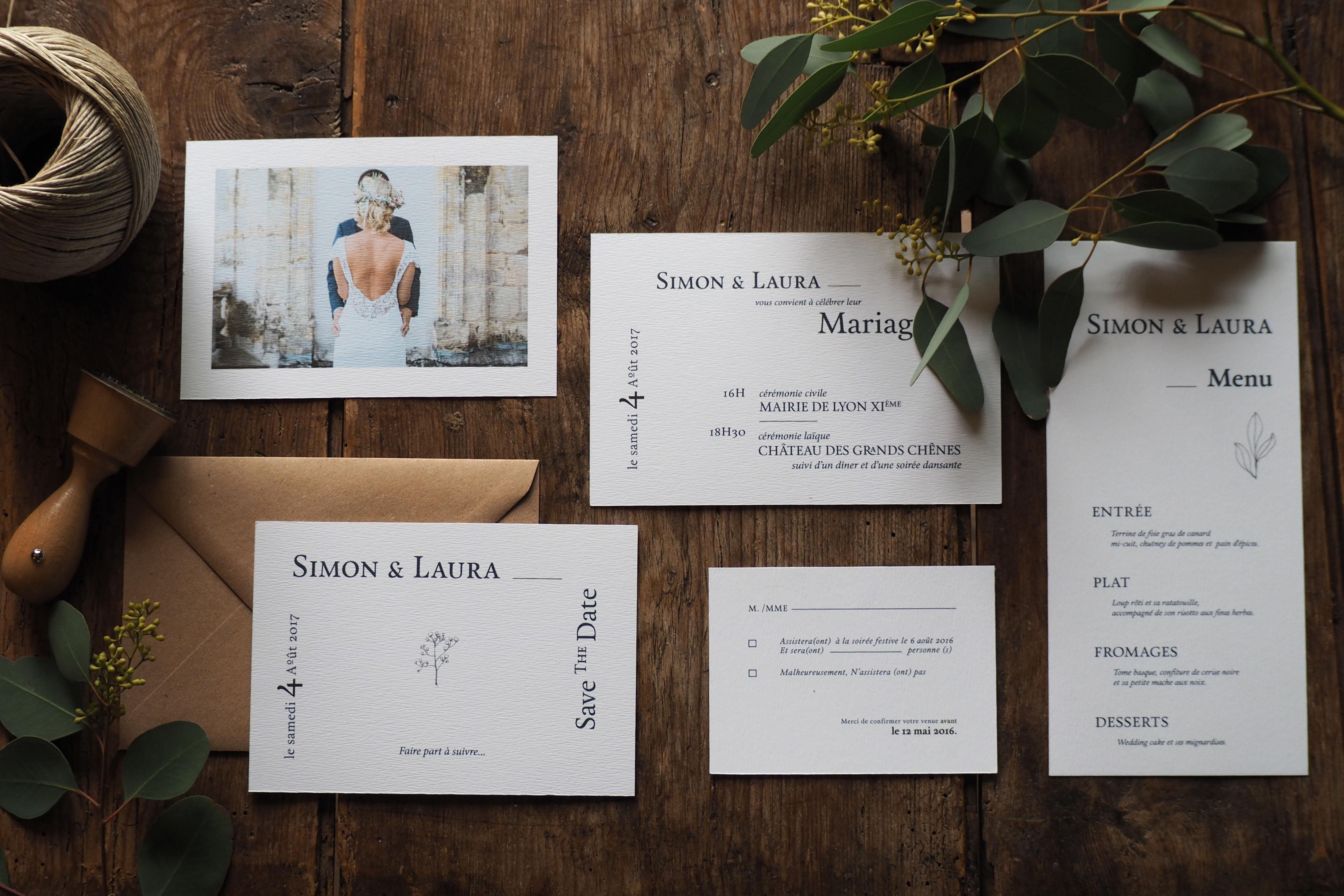 Septembre Papeterie collection graphique faire part mariage Rhapsodie