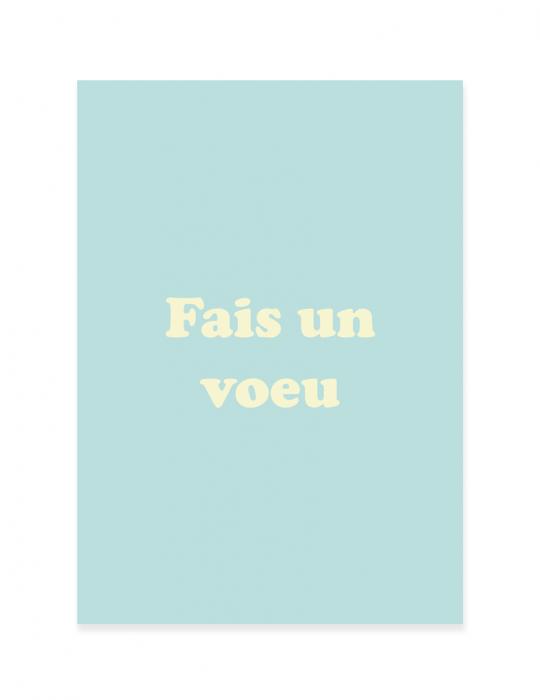 Carte de noël Septembre Papeterie - Fais un voeu